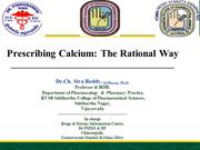 Prescribing Calcium Rational way