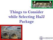 Things to Consider while Selecting HaJJ Package