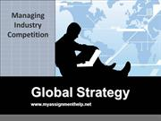 global strategy assignment help only at myassignmenthelp.net