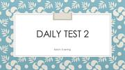 Daily Test 2 EB 1.9.14
