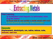 1_2.1 and 2.2_Extracting metals extracting iron