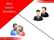 1800 Smart Numbers – For All