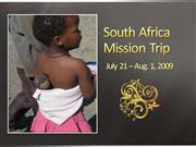 South Africa Mission Trip