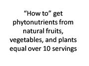 How to get 10 servings of fruits and vegetables pe