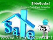 HOME FOR SALE REAL ESTATE POWERPOINT TEMPLATE IMAGE