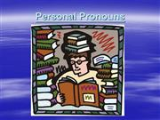 Personal Pronouns ESL