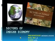SECTORS OF INDIAN ECONOMY ON THE BASIS OF NATURE OF ACTIVITIES