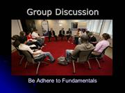Fundamentals of group discussion