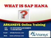 SAP HANA  ONLINE TRAINING | HANA  Project  | SAP HANA  Certificatio