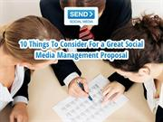 10 Things For a Great Social Media Management Proposal