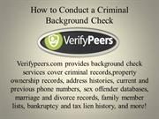 How to Conduct a Criminal Background Check