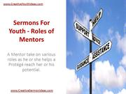 Sermons For Youth - Roles of Mentors
