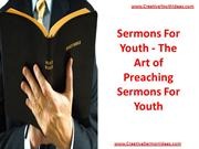 Sermons For Youth - The Art of Preaching Sermons For Youth