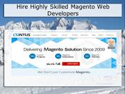 Hire Certified Magento Web Developers at Contus