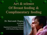 art and science of breastfeeding