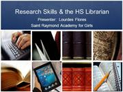 Research Skills & the HS Librarian