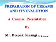 Creams & its evaluation ppt