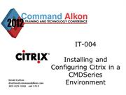 Citrix and COMMANDseries