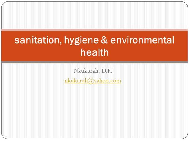 Water Sanitation, Hygiene & Environmental Health |authorSTREAM