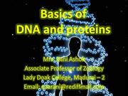 Basics of DNA and proteins