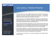 SAS Clinical Training