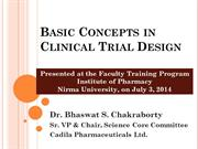 Basic Concepts in Clinical Trial Design