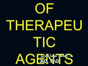 TOXICITY OF THERAPEUTIC AGENTS
