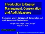 Introduction to Energy Audit