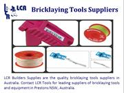 Bricklaying Tools Suppliers