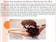 A new Instructions on Shorter Hairstyles For Men