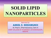 SOLID LIPID NANOPARTICLES