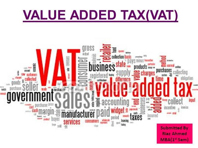 Value Added Taxvat Mba Byriaz Authorstream