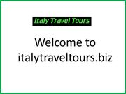 Choose the Best Italy Travel Tours