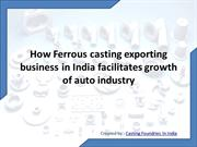 Casting manufacturer foundries in India