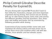 Philip Cottrell Gibraltar Describe Penalty for Expired DL