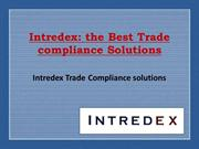 Intredex-The Best Trade compliance Solutions