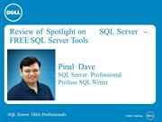 Review of Spotlight on SQL Server by Pinal Dave