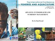 ADVANCES IN FISH HEALTH AND  NUTRITION MANAGEMENT