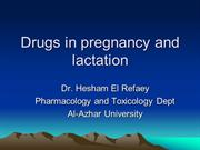 Drugs used during pregnacy and lactation