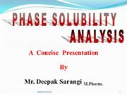 Phase solubility analysis ppt