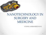 NANOTECHNOLOGY IN SURGERY AND MEDICINE