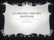 Learning Theory defense