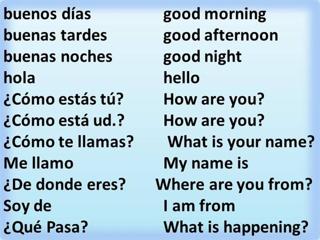 Worksheets Greetings In Spanish spanish greetings authorstream and responses