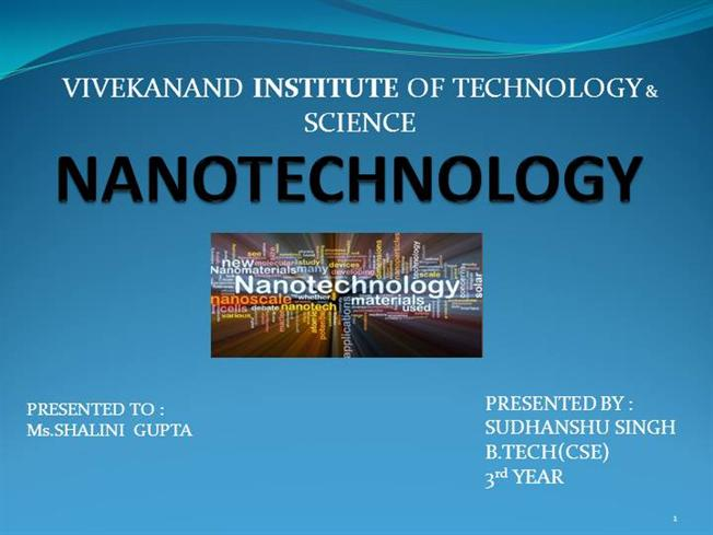 nanotechnology ppt |authorstream, Presentation templates