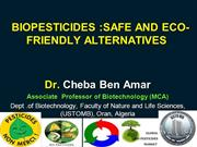 BIOPESTICIDES :SAFE AND ECO-FRIENDLY ALTERNATIVES