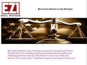 Bail bonds Oakland county Michigan