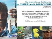 SOCIO-ECONOMIC  STUDY OF FISHERMEN COMMUNITY ....