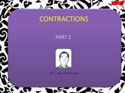 CONTRACTIONS PART 2