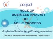 Role of Business Analyst in Agile Process