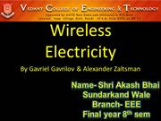 SHRI AKASH BHAI SUNDARKAND WALE [ WIRELESS ELECTRICITY]